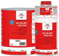 Car System 2K VOC Filler 540 1,25 l. set grijs