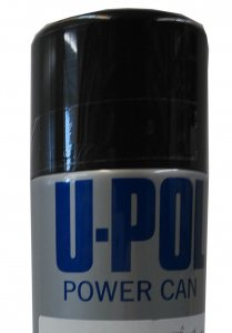 U-Pol Power Can Zwart Glans 500ml.
