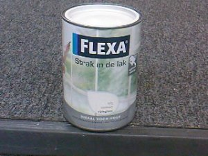 Flexa strak in de lak zijdegl. 1.25 l wit