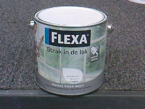 Flexa strak in de lak zijdegl. 2.5 l wit