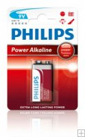 Philips Power Alkaline 6LR61/ 9 volt